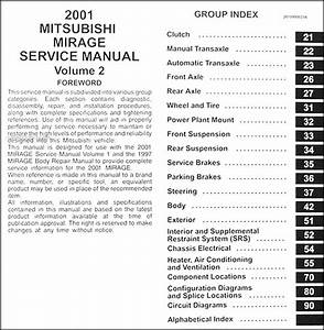 2001 Mitsubishi Mirage Repair Shop Manual Set Original