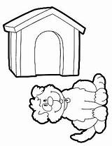Coloring Doghouse Preschool sketch template