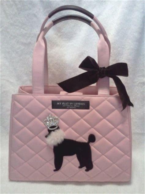 flat  london pink poodle handbag chanelandmore