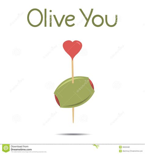 olive you i you vector illustration stock vector