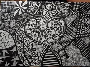 Sharpie Black and White Heart by meralies on DeviantArt