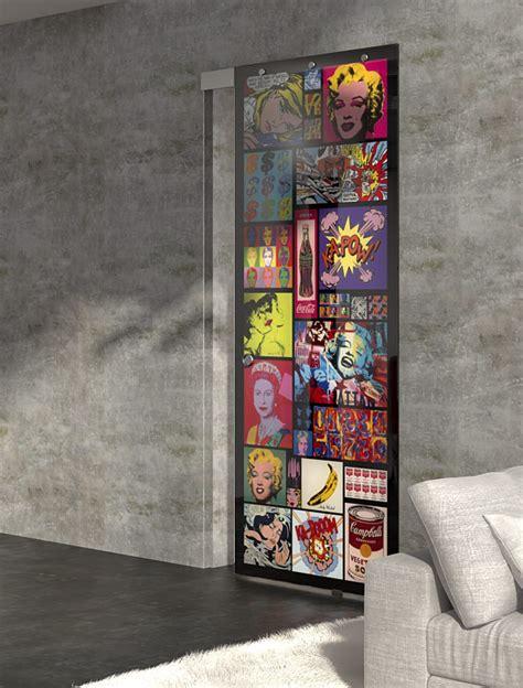 sliding door glamour design glass interior design pop