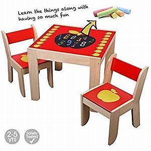 Bureau Enfant 5 Ans : labebe meubles bois table enfants ou bureau fille avec tableau rouge apple pour 1 5 ans b b ~ Melissatoandfro.com Idées de Décoration