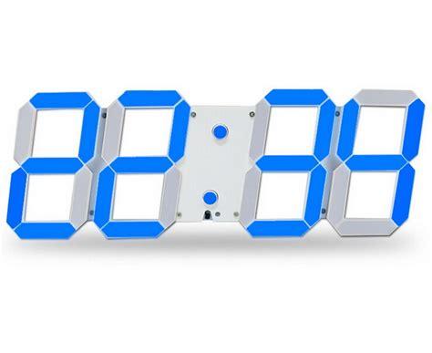 horloge murale a led led squelette horloge murale a affichage digitale eclairage 24 12 heure 3d kxp eur 33 99