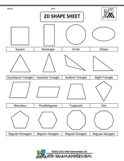 6 Best Images Of 2d 3d Shapes Poster Printable  2d And 3d Shapes Names, 2d Shapes Worksheets