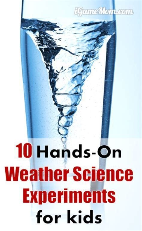 hands  weather science experiments  kids weather