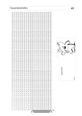 Die bezeichnungen der eigenschaften sind bei excel normalerweise selbsterklärend. Tausenderstreifen mit Zahlen - inkl. Abdeckblatt: Verlage der Westermann Gruppe
