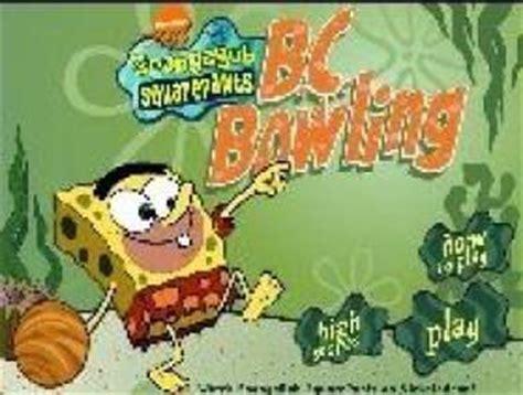 jeux de cuisine spongebob jeux bob l 39 eponge spongebob bowling
