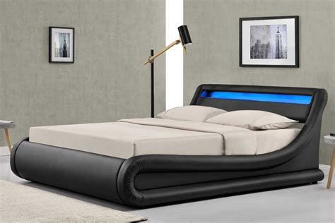 What Is An Ottoman Bed by Madrid Led Lights Black Ottoman Storage Bed Frame