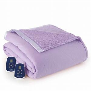 Micro Flannel Electric Heated Blanket With Sherpa Back