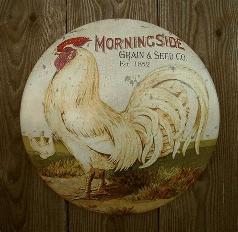 New Rustic Primitive Vtg Antique Style Country Rooster