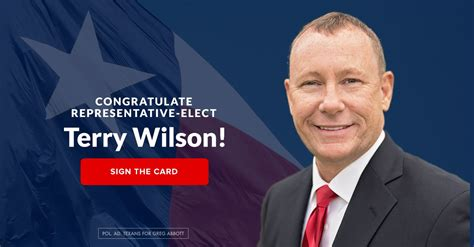 Congratulate Representative-Elect Wilson - Greg Abbott
