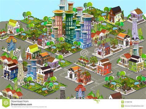 fond de la ville 3d illustration stock image du construit 37488758