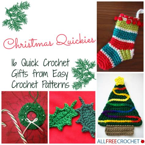 free crochet patterns easy christmas gifts quickies 16 crochet gifts from easy crochet patterns allfreecrochet