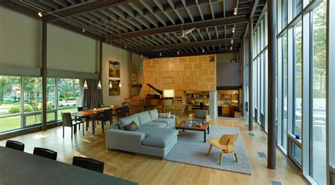 L Shaped Home Design : Beautiful L-shaped House Design In Jackson, Mississippi