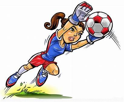 Soccer Goalie Clipart Silhouette Clip Clker Vector