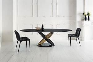 Table Ovale Design : table ovale fusion bontempi casa espace steiner design contemporain ~ Teatrodelosmanantiales.com Idées de Décoration