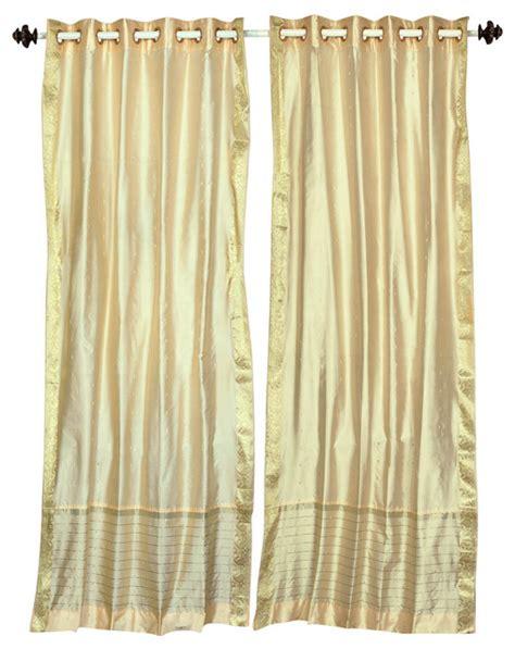 ring top sheer sari curtain drape and panel