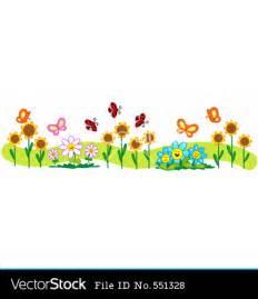 Flower Single Line Border Clip Art
