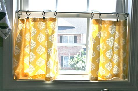 Contemporary Kitchen Curtains Yellow