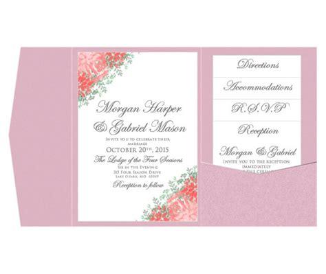 pocket wedding invitation template set instant download