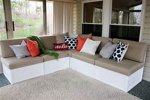 Ana white outdoor sectional diy projects for Diy sectional sofa with storage