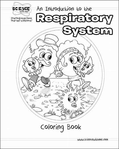 Respiratory System Coloring Pages Drawing Printable Template