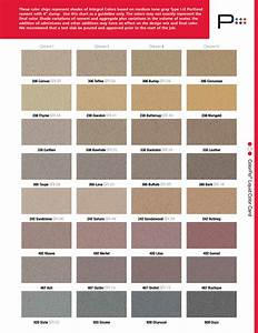 Concrete Color Chart Color Chart For Adding Color To