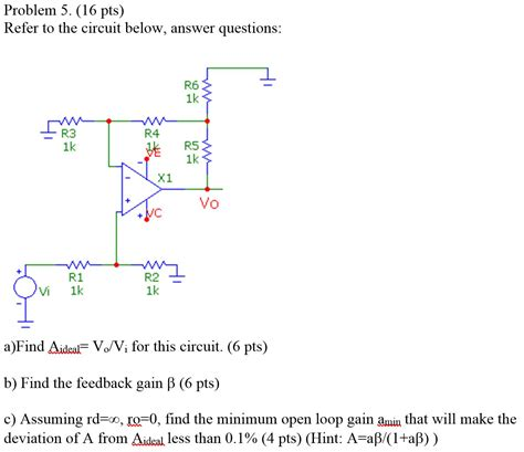 Solved Refer The Circuit Below Answer Questions