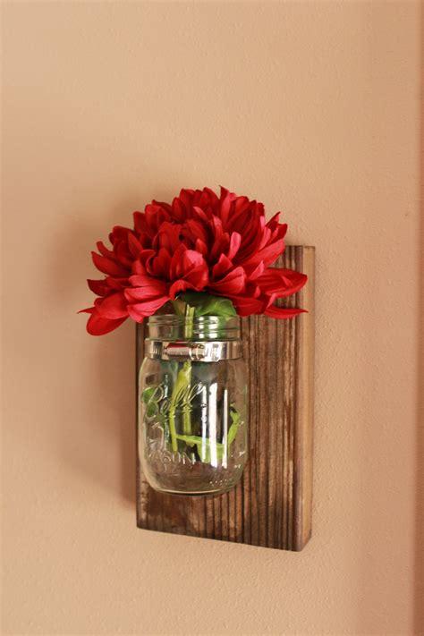 Wall Flowers Decor - diy jar wall decor the hamby home