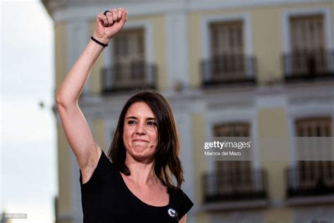 Irene Montero Of Podemos During A Demonstration Supporting
