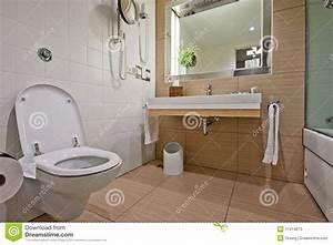 Salle de bains moderne avec le bassin de toilette photos for Adjustment bureau bathroom scene