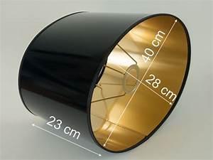 Lampenschirme Für Tischlampen : lampenschirm gross schwarz gold lack f r tischlampen e27 oval xxl stehlampe ebay ~ Whattoseeinmadrid.com Haus und Dekorationen