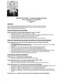 flight attendant resume cover letter exles flight attendant description resume sles of resumes