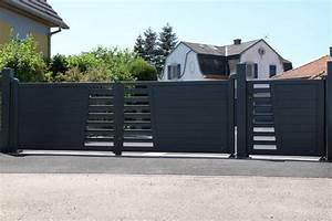 Portail Aluminium Battant Portail Aluminium Bondi 300 Cm Double