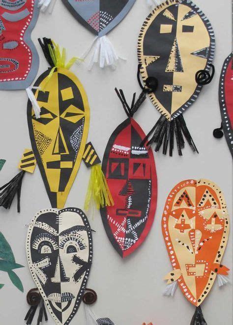 afrikanische masken basteln pin anneliese nehfischer auf kunst kunstunterricht