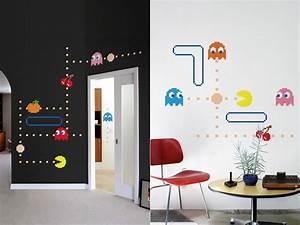 decoracao quarto geek na garupa da vespa With pacman wall decals gamers room ideas