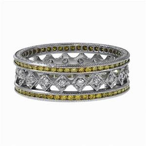 yellow diamond wedding band estate diamond jewelry With diamond rings wedding bands