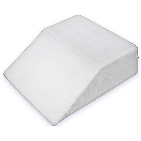 foam wedge pillow leg wedge memory foam pillow bed bath beyond