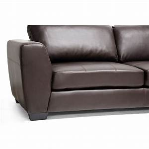 orland brown leather modern sectional sofa set with right With chocolate sectional sofa set with chaise