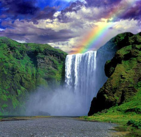 Desktop Wallpapers Waterfalls With Rainbow