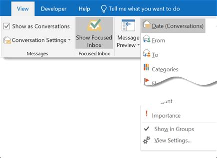 Office 365 Outlook Ungroup Emails microsoft office tutorials or ungroup messages in
