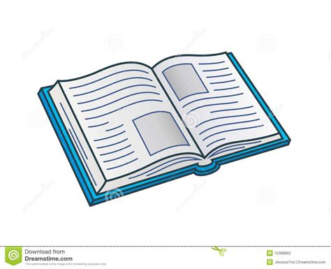 Open Book Stock Vector. Image Of Learn, Blank, Library