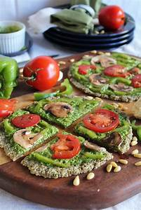 This Rawsome Vegan Life  Raw Pizza With Spinach Pesto  U0026 Marinated Vegetables