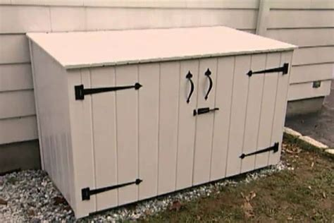 garbage can storage outdoor storage decorations