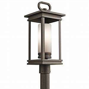 modern outdoor post light knowledgebase With kichler outdoor pole lighting