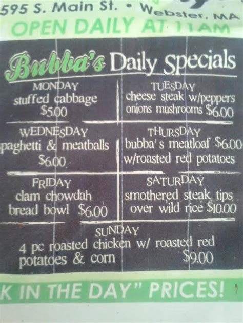 American commerce does not direct hire any agents. Bubbas Cafe - Home - Webster, Massachusetts - Menu, Prices, Restaurant Reviews | Facebook