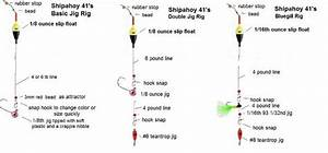 Some Basic Fishing Rig Setups Drawings
