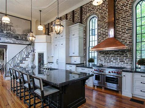 20 beautiful brick and kitchen one wall kitchen design pictures ideas tips from hgtv
