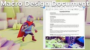 Game Jam Macro Design Document Guide And Template  Indie